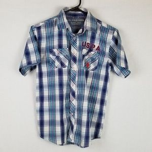 Youth U.S. Polo Assn. Button down S/S sz 10/12